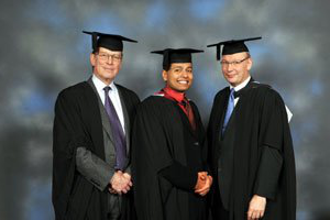 Avijit Guha Roy with Mr Shenfield & Mr Lewis